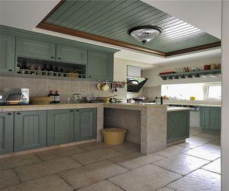 140平米田园风格厨房图片大全