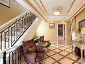 豪华型140平米三室一厅法式风格楼梯图片