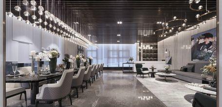 120平米三室两厅混搭风格餐厅图