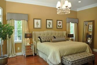 120平米三室两厅田园风格卧室装修效果图
