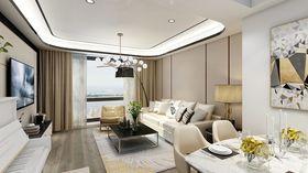 130平米三室兩廳現代簡約風格客廳裝修效果圖