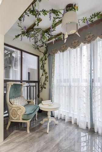 120平米三室一厅法式风格阳台装修图片大全