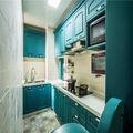 90平米三室两厅地中海风格厨房装修效果图