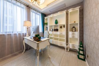 130平米三室一厅新古典风格书房欣赏图