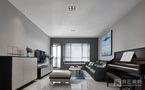 130平米三室五厅现代简约风格客厅图