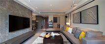 70平米现代简约风格客厅沙发设计图