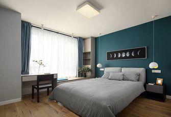 130平米三室两厅美式风格卧室背景墙装修效果图