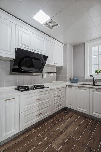 100平米三室一厅英伦风格厨房欣赏图
