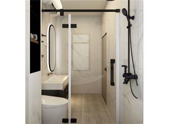 110平米三室一厅欧式风格卫生间图片