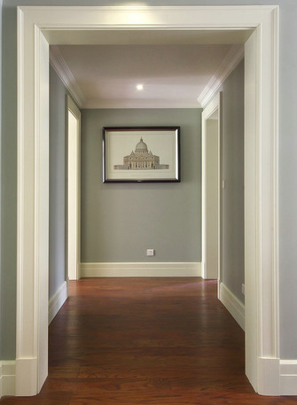 120平米三室两厅美式风格走廊图片