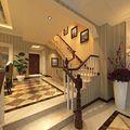 5-10万140平米三室两厅新古典风格楼梯图片