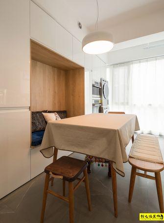130平米三室一厅北欧风格餐厅图
