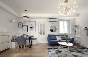 80平米三室兩廳北歐風格客廳裝修案例