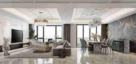 140平米三室两厅其他风格客厅图