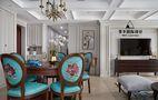 130平米三室两厅法式风格餐厅家具装修案例
