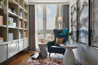 富裕型140平米三室两厅现代简约风格书房图片