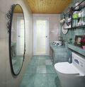 110平米田园风格卫生间设计图