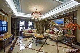 140平米三室兩廳新古典風格客廳裝修案例
