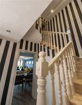 经济型120平米三室两厅混搭风格楼梯装修案例