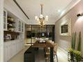 富裕型130平米三室一厅现代简约风格餐厅装修图片大全