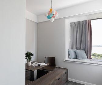 豪华型120平米四室两厅现代简约风格书房图片大全
