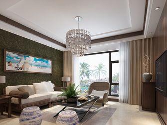 80平米三室两厅东南亚风格客厅图片大全