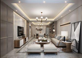 120平米三室五厅现代简约风格客厅图片