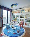 140平米复式英伦风格儿童房装修效果图