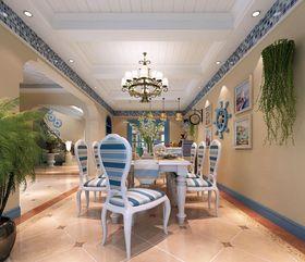 富裕型140平米四室三廳地中海風格廚房圖片大全