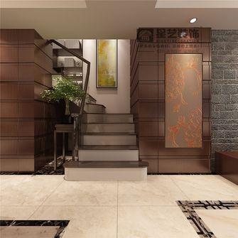 5-10万130平米三室一厅中式风格楼梯欣赏图