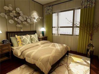 100平米三室两厅现代简约风格卧室背景墙欣赏图