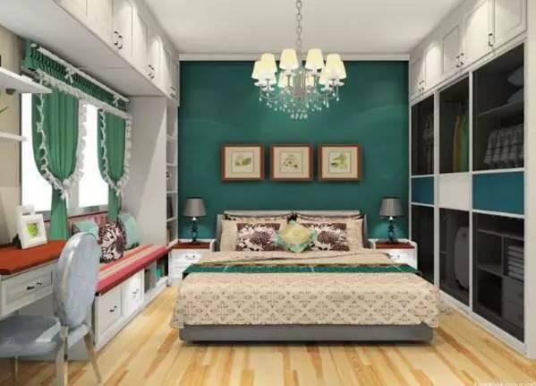 欧式田园卧室背景墙装修效果图风格展示:效果图二