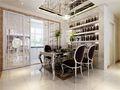 130平米三室两厅欧式风格餐厅橱柜效果图