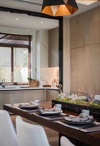 140平米别墅美式风格餐厅图片