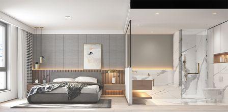 120平米三室一厅日式风格卧室欣赏图