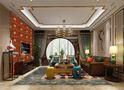 110平米三室两厅混搭风格客厅沙发装修图片大全