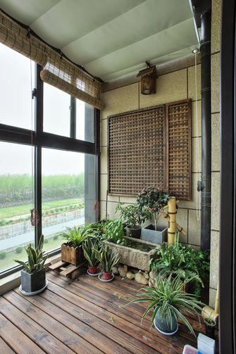 130平米三室两厅日式风格阳台图