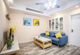 70平米混搭风格客厅装修图片大全