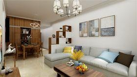 90平米三室两厅现代简约风格客厅装修案例