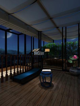 20万以上140平米三室两厅田园风格阳光房装修效果图
