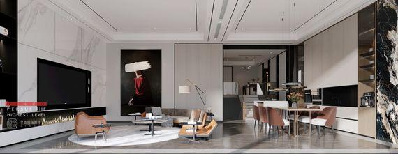 140平米三室四厅现代简约风格客厅装修效果图
