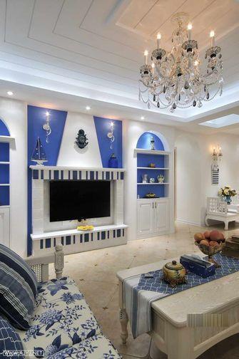 经济型100平米三室一厅地中海风格影音室图片大全