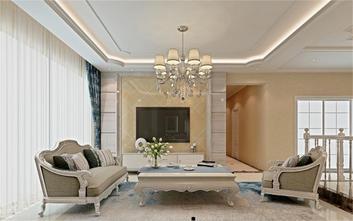 120平米四室一厅田园风格客厅设计图