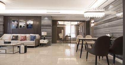 140平米四室一厅现代简约风格客厅设计图