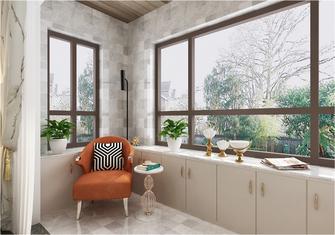 90平米三室两厅法式风格阳台设计图