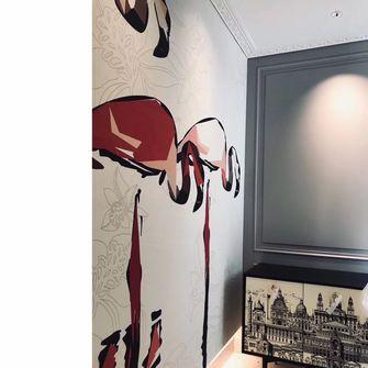 140平米四室两厅现代简约风格走廊欣赏图
