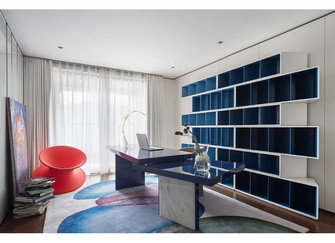 110平米三现代简约风格书房装修案例