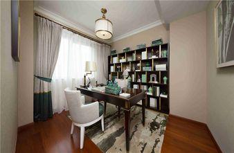 90平米三室一厅混搭风格书房设计图