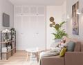 60平米公寓混搭风格客厅装修效果图