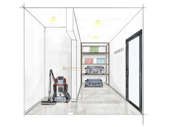 140平米复式欧式风格储藏室图